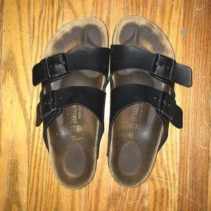 Size 40 black Birkenstocks